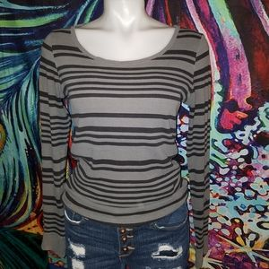 Women's Long Sleeved Striped Top